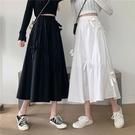 半身裙年春季新款韓版高腰顯瘦百搭蝴蝶結中長款裙子女學生