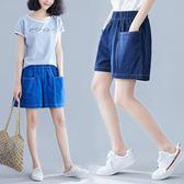 適合胯大腿粗的牛仔褲胖妹妹短褲女寬鬆大碼夏季休閒百搭寬鬆闊腿