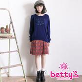 betty's貝蒂思 前裁片蘇格蘭格紋學院風短裙(紅色)