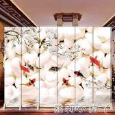 屏風現代簡約時尚中式折屏客廳酒店臥室玄關實木隔斷摺疊實木屏障 igo全館免運