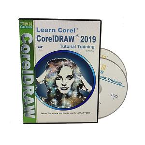 [9美國直購] Corel CorelDRAW 自學光碟含 178集影片2019 Tutorial Training on 2 DVDs 11 hours 178 videos
