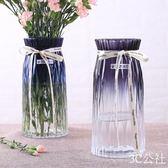 歐式簡約水培玻璃花瓶透明玫瑰百合康乃馨3C公社