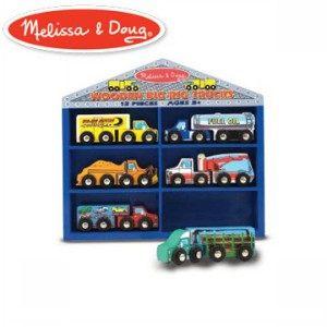 書立得-《美國 Melissa & Doug》木製貨櫃車玩具組(G6052)