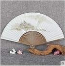 ( 主圖二 ) 手繪白紙扇香紙扇中國風串面扇工藝折扇舞蹈扇古風女扇折扇