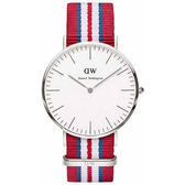 Daniel Wellington DW 瑞典簡約風格 40mm/尼龍/經典款 0212DW 手錶