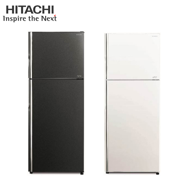 [HITACHI 日立家電]443公升 雙門變頻冰箱-琉璃灰/琉璃白 RG449
