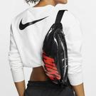 M- CLASSICK- NIKE HERITAGE HIP PACK 亮皮 黑色 紅色 腰包 收納 新款 防水 側背 腰包 CK7914-010