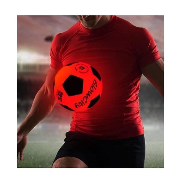 GlowCity 發光足球 尺寸5 夜間 Light Up LED Soccer Ball [2美國直購]