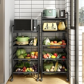 廚房收納架 廚房菜籃子置物架落地式多層多功能家用果蔬菜收納行動放菜的架子【快速出貨】