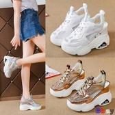 【貝貝】楔型涼鞋 包頭 運動 厚底 鬆糕 高跟 坡跟 內增高