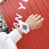 電子手錶女學生韓版簡約潮流 ulzzang夜光防水休閒潮男運動大錶盤