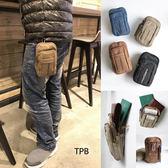 [潮流堂 ]  實用耐磨復古帆布四層腰包腰掛包 (5.5吋手機可放) SBD1041211