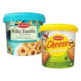 kokola 桶裝餅乾(400g) 牛奶香草風味餅乾/起司風味夾心餅乾 款式可選【小三美日】