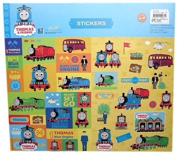 【卡漫城】 湯瑪士 中 貼紙 30x21cm ㊣版 Thomas 蒸汽小火車頭 兒童貼紙 卡通 男童 交通工具