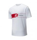 New Balance 男款白胸口刺繡LOGO短袖上衣-NO.AMT01510WT