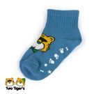 MIT 兩隻老虎止滑寶寶襪 藍色 小童(S)12-15cm