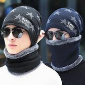 男士帽子冬季保暖針織套頭帽韓版冬天戶外加絨護耳棉帽男士毛線帽  提拉米蘇
