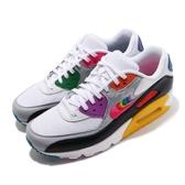 Nike 復古慢跑鞋 Air Max 90 Be True 白 彩虹 氣墊 運動鞋 限量款 男鞋 女鞋【PUMP306】 CJ5482-100