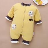 嬰兒連身衣保暖新生兒衣服秋冬季純棉夾棉加厚冬裝【奇趣小屋】