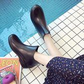 優妮芳時尚女士防水鞋日系雨鞋女短筒春夏季雨靴廚房成人防滑膠鞋