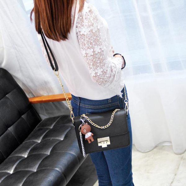 流行女包斜背包小包包女潮韓版超火包百搭斜背包側背包
