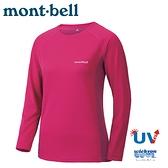 【Mont-Bell 日本 女 COOL L/S T 長袖排汗T恤《果酒紅》】1114457/圓領衫/排汗衣