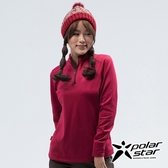PolarStar 女 高領拉鍊保暖衣『紫紅』P18222 戶外│休閒│登山│排汗│透氣│機能│保暖│高領