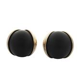 Dior 迪奧 Tribales 系列黑色樹脂鍍金圓珠耳環【二手名牌 BRAND OFF】