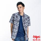 BOBSON 男款格紋短袖襯衫(23004-88)