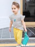 女童短袖2020新款寶寶夏裝兒童純棉半袖t恤韓版洋氣嬰兒童裝上衣 童趣潮品