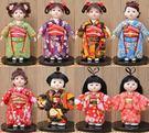 特色手工藝絹人日本藝妓人偶娃娃市松人形藝...