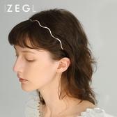 ZENGLIU韓國波浪髮箍仙女百搭外出簡約網紅森系髮卡頭飾髮夾頭箍 城市科技