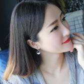 韓國時尚氣質幾何人工鋯石耳環女簡約短款耳釘耳墜百搭網紅耳飾潮