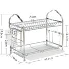 瀝水架 304不銹鋼廚房置物架瀝水碗架晾放碗碟架碗筷收納盒餐具架子加厚 快速出貨