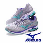 【MIZUNO促銷6折】 MIZUNO WAVE RIDER 20 女慢跑鞋 灰/湖水綠 J1GD170331