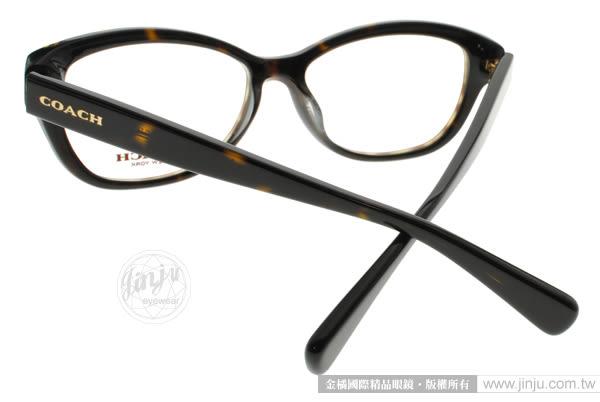 COACH 光學眼鏡 CO6076F 5120 (琥珀棕) 奢華晶鑽貓眼款 # 金橘眼鏡