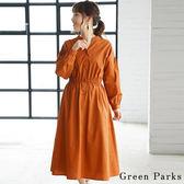 ❖ Hot item ❖  V領鬆緊腰設計洋裝 - Green Parks