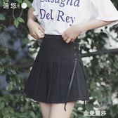 短裙 百褶裙女夏季新款高腰黑色半身裙短裙學生韓版白色a字裙顯瘦 金曼麗莎