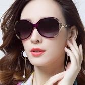 太陽鏡新款女士偏光太陽鏡圓臉網紅墨鏡女潮明星款防紫外線大框眼鏡【快速出貨八折下殺】