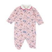 【愛的世界】溜冰小女童包腳衣連褲/3個月~1歲-台灣製- ★幼服推薦