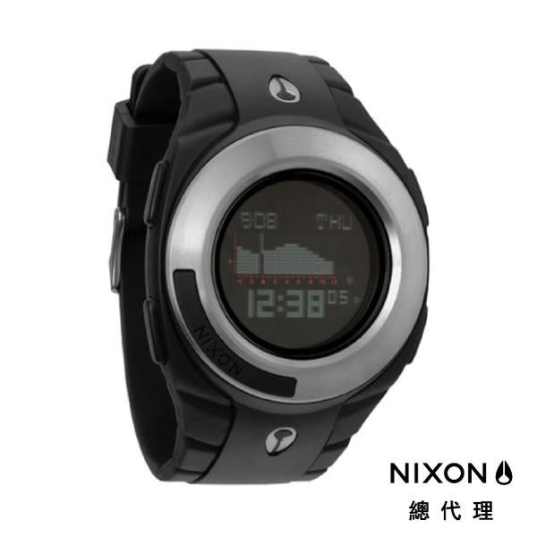 NIXON手錶 原廠總代理 A128-000 THE OUTSIDER TIDE 黑色 潮流時尚膠錶帶 男女適用 運動 生日 情人節禮物