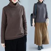 特大碼女裝100公斤胖mm秋冬長袖T恤高領寬鬆外穿遮肚打底衫顯瘦百搭