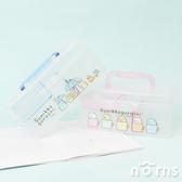 【角落生物透明手提收納箱小款】Norns  收納盒工具箱整理箱塑膠盒收納籃聖誕節