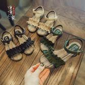 2018夏季新款正韓百搭褶子露趾防滑軟底女童涼鞋公主鞋兒童鞋子潮【寶貝開學季】