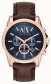 【人文行旅】A/X Armani Exchange |  亞曼尼 AX2508 微光撞色復古腕錶 46mm