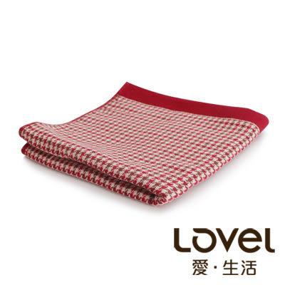 里和Riho LOVEL英倫復古千鳥格雙面棉紗浴巾 70x138cm 2色可選 毛巾 紗布巾 哺乳巾