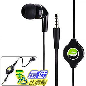 [106美國直購] Mono Retractable Premium B01CTAJ07W Sound Handsfree Single Earbud Mic 麥克風耳機
