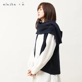 a la sha+a  圍巾式創意針織背心