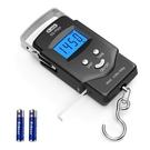 [2美國直購] Dr.meter 液晶顯示掛鉤秤 PS01 帶捲尺 釣魚 行李秤 單位轉換 最多50公斤