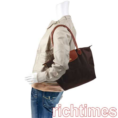 【裕代 LONGCHAMP】可可色水餃肩背包 LC0B5116